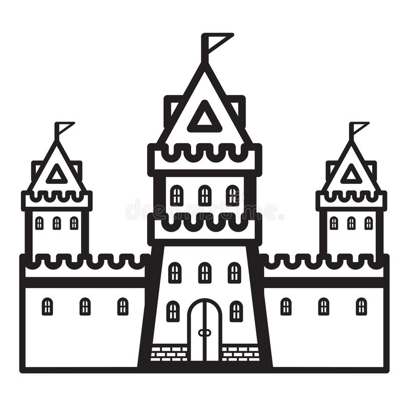 城堡葡萄酒传染媒介 皇族释放例证