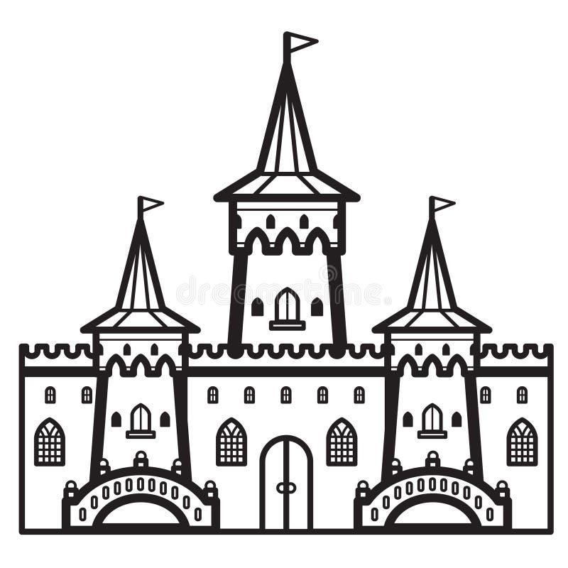 城堡葡萄酒传染媒介 向量例证