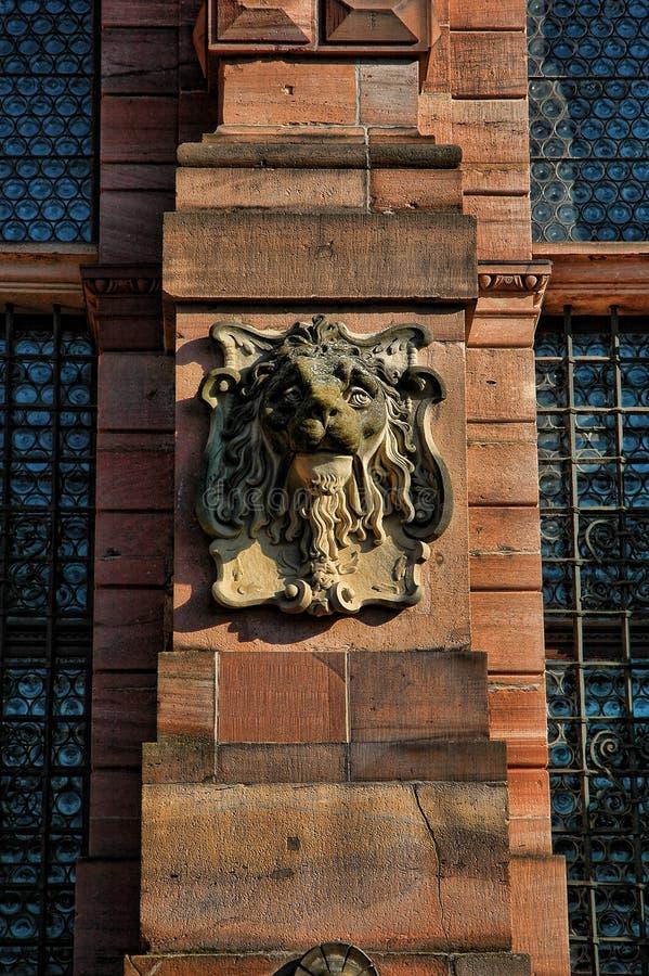 城堡详细资料海得尔堡 免版税图库摄影