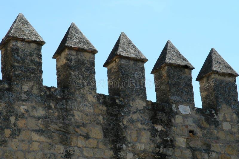城堡详细资料 免版税图库摄影