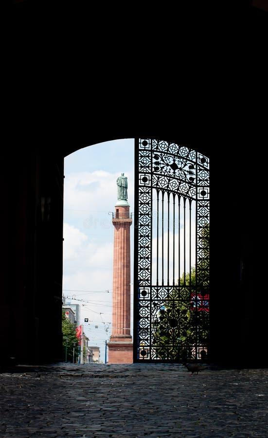 城堡达姆施塔特门 库存照片
