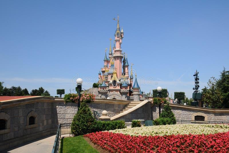 城堡迪斯尼乐园神仙巴黎 免版税库存照片