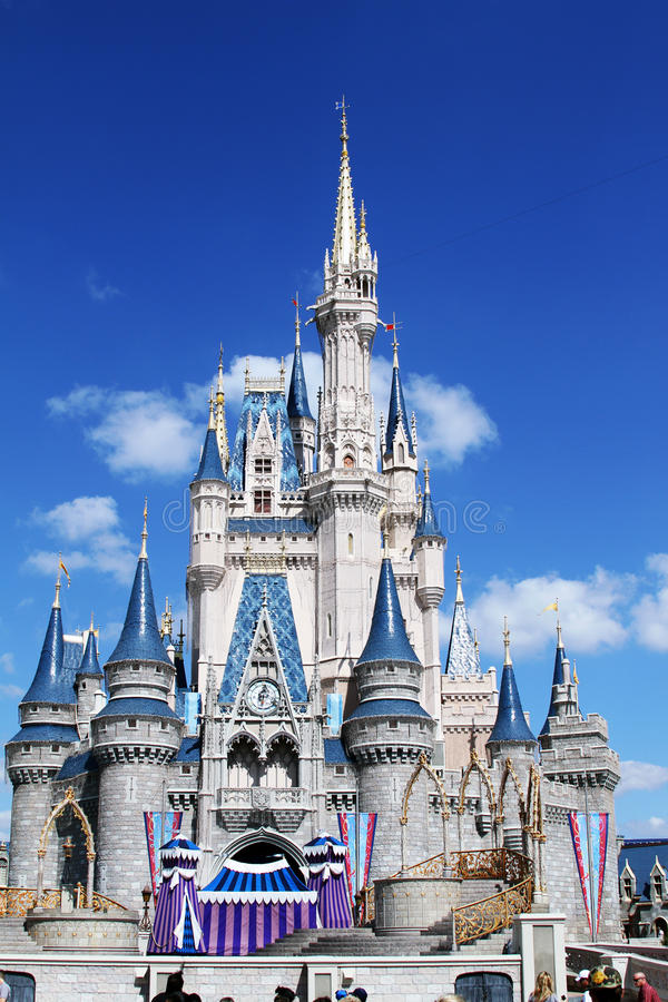 城堡迪斯尼佛罗里达魔术s 免版税图库摄影