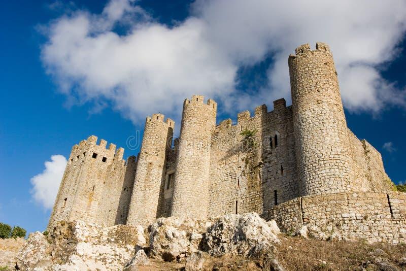 城堡透视图 免版税库存图片