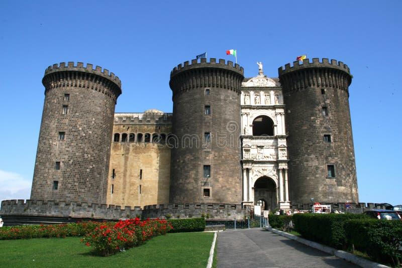 城堡那不勒斯nuovo 免版税库存图片