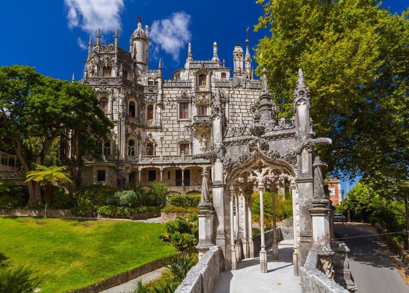 城堡金塔da Regaleira -辛特拉葡萄牙 免版税库存图片