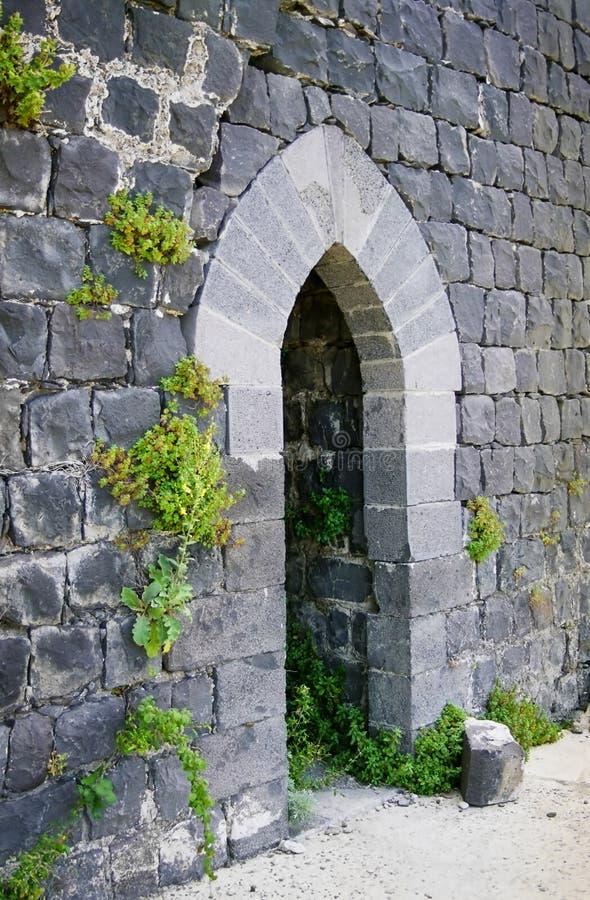 城堡门margat石头 库存照片