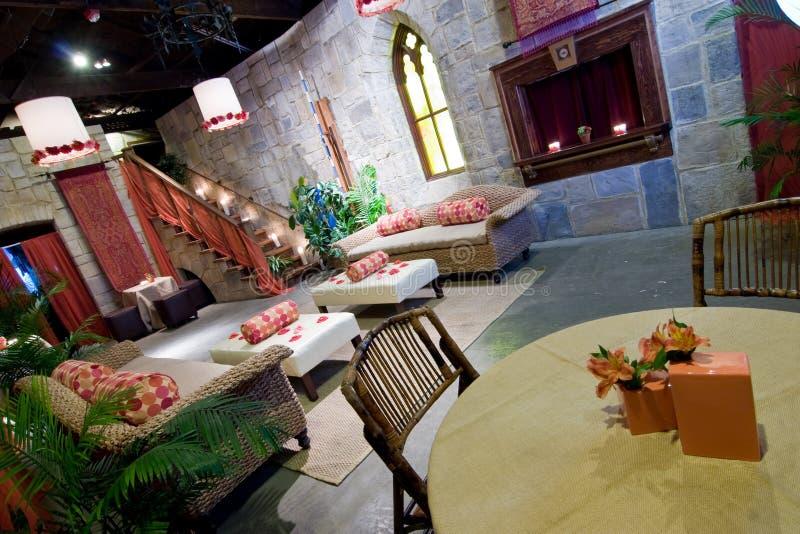城堡餐馆主题 免版税库存图片