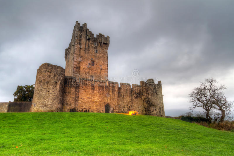 城堡黄昏hdr罗斯 库存图片