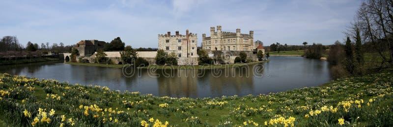 城堡黄水仙英国肯特利兹春天 免版税库存图片