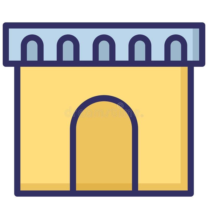 城堡,拱道可以容易地是编辑或修改的被隔绝的传染媒介象 库存例证
