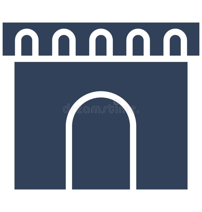 城堡,拱道可以容易地是编辑或修改的被隔绝的传染媒介象 皇族释放例证