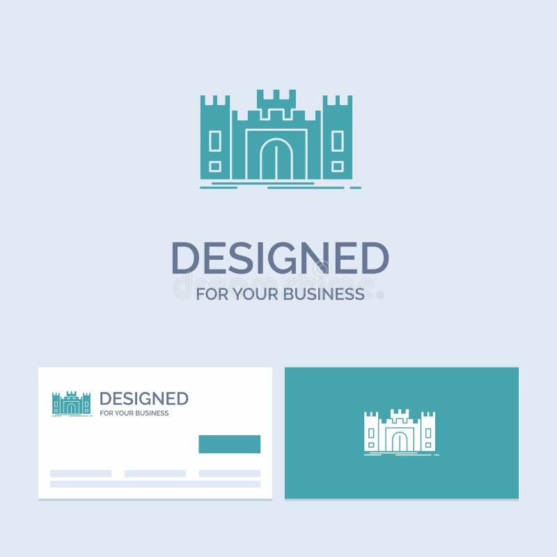 城堡,防御,堡垒,堡垒,地标企业商标纵的沟纹您的事务的象标志 r 库存例证
