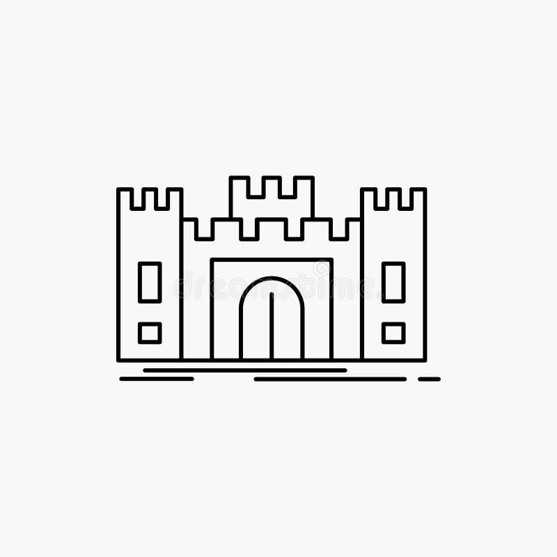 城堡,防御,堡垒,堡垒,地标线象 r 库存例证