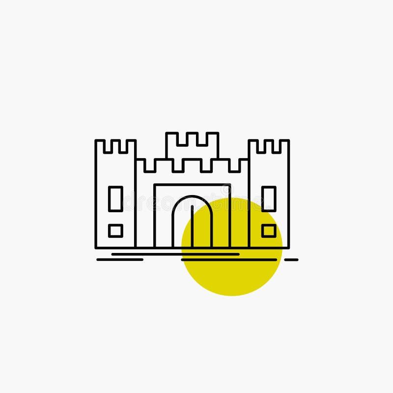 城堡,防御,堡垒,堡垒,地标线象 库存例证