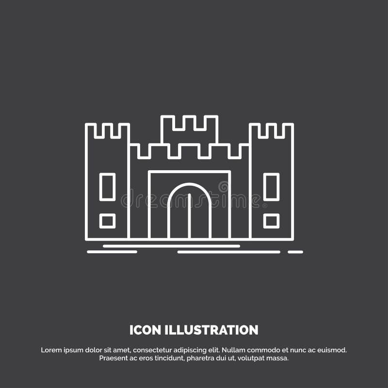 城堡,防御,堡垒,堡垒,地标象 r 向量例证