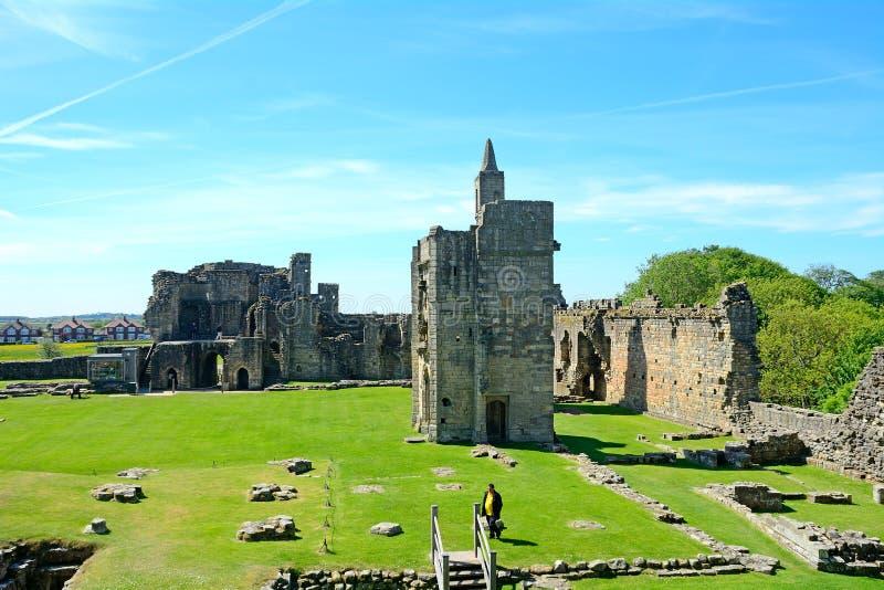 城堡, Warkworth,英国 免版税库存照片