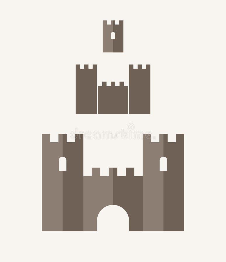 城堡 象集合 库存例证