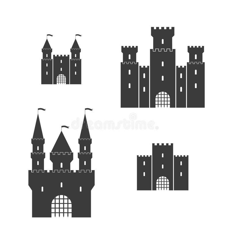 城堡 集合 向量例证