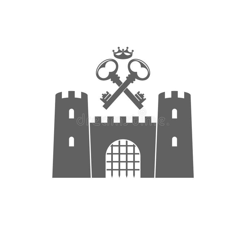 城堡 皇族释放例证