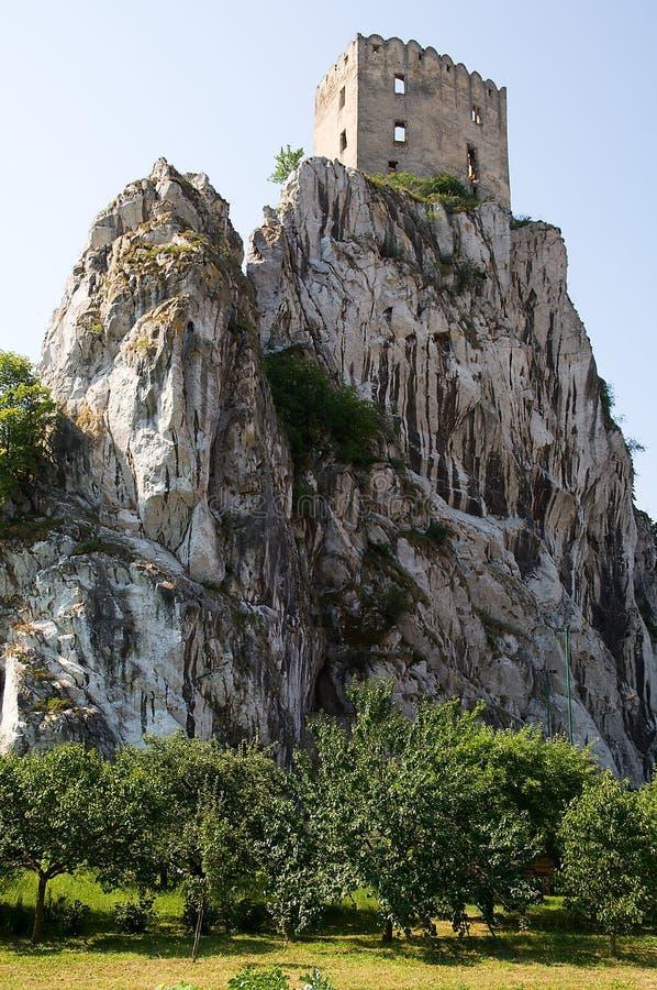 城堡Becov 库存图片