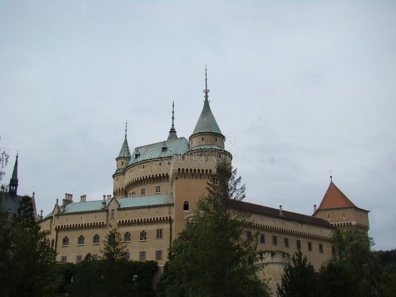 城堡Bojnice斯洛伐克 免版税库存照片