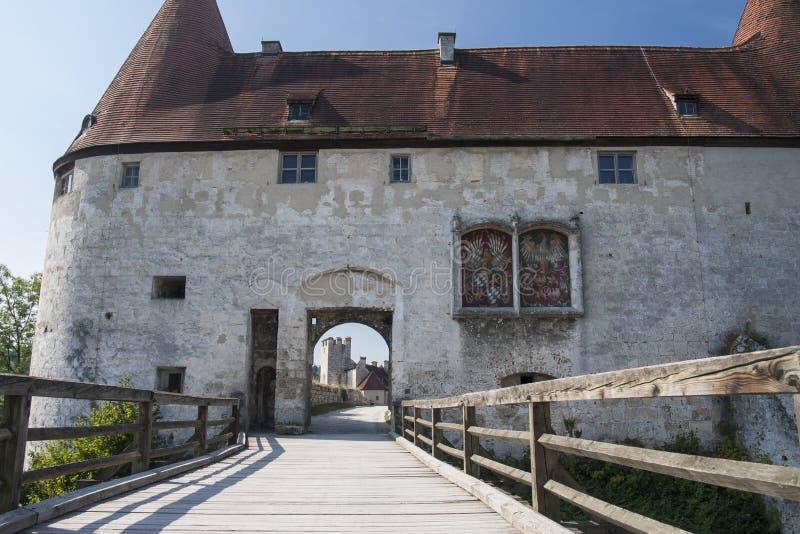 城堡Burghausen在德国 库存图片