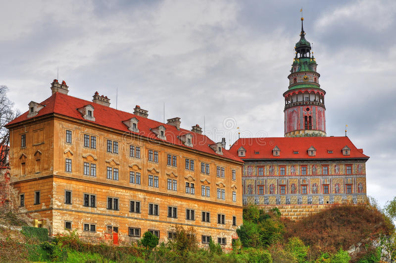 城堡cesky krumlov 库存图片