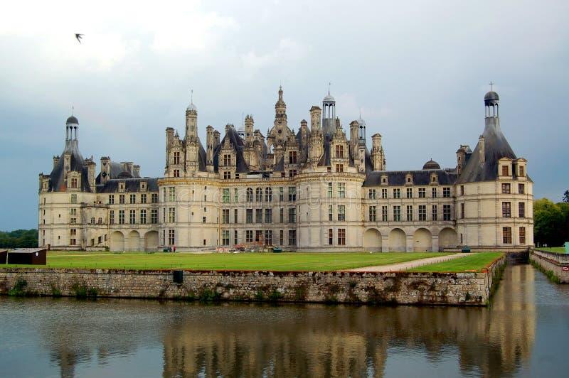 城堡chambord 库存照片