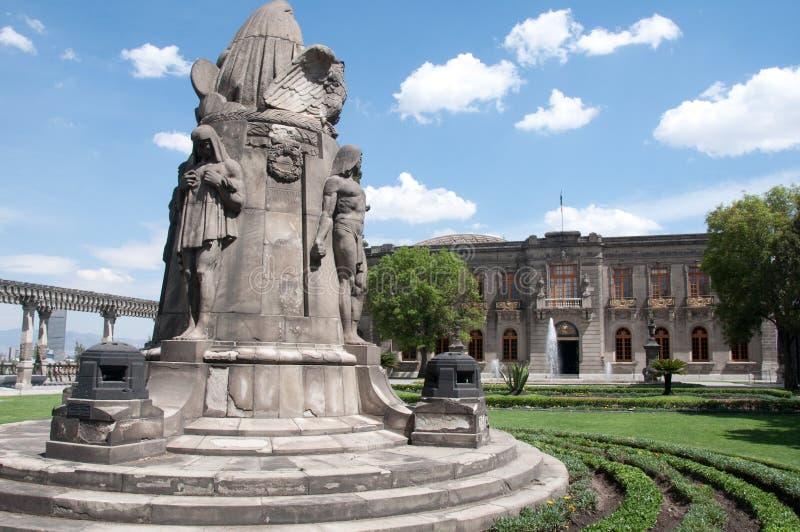 城堡chapultepec城市墨西哥 免版税库存照片