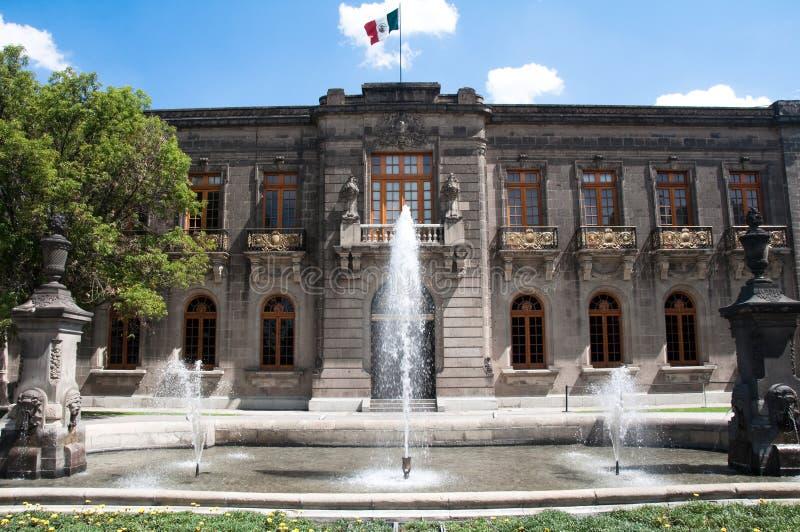 城堡chapultepec城市墨西哥 免版税库存图片