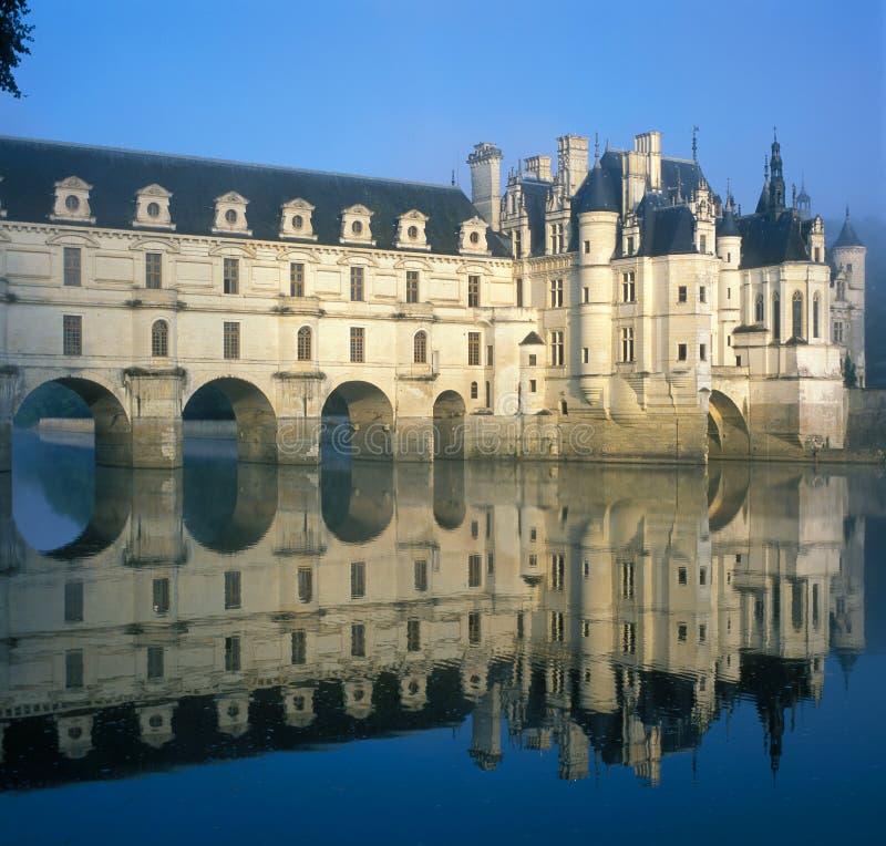 城堡chenonceaux 免版税图库摄影
