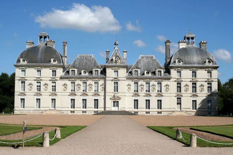城堡cheverny法国 库存图片