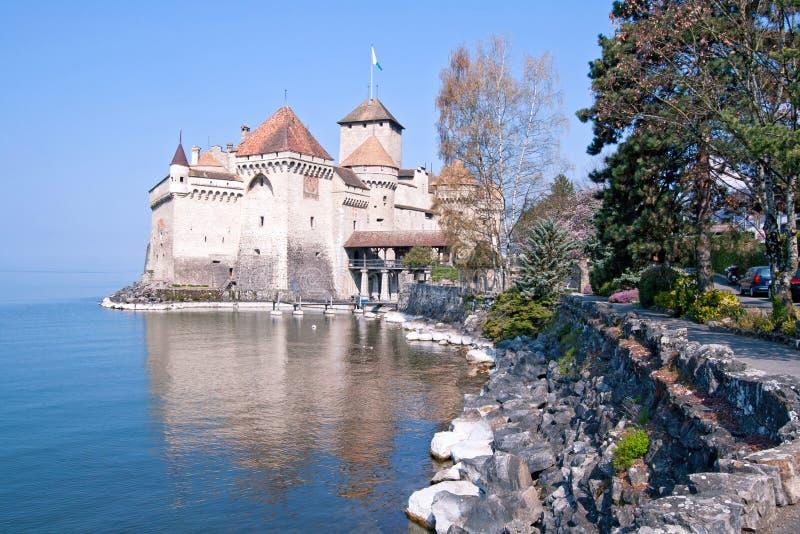 城堡chillon瑞士 图库摄影