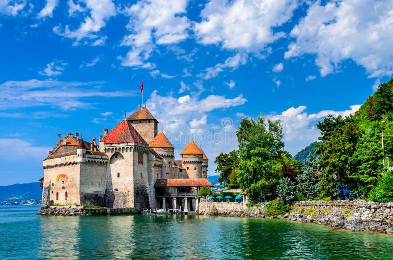 城堡chillon瑞士 免版税图库摄影
