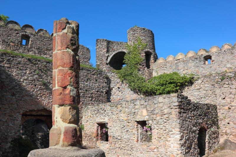 城堡Chojnik 库存照片