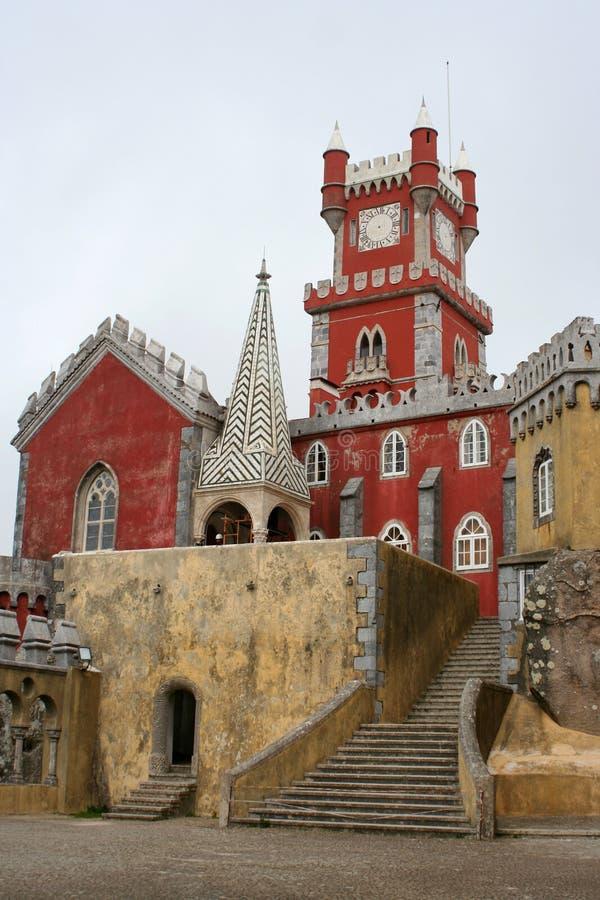 城堡clocktower 库存图片