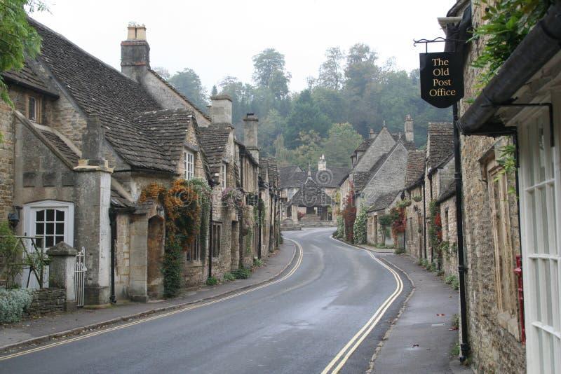 城堡Combe村庄英国 免版税库存照片
