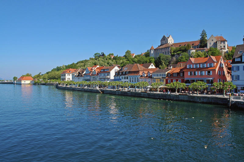 城堡constance德国湖海运 库存图片