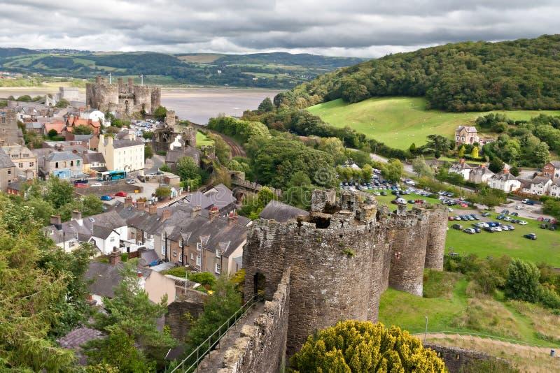城堡conwy snowdonia威尔士 免版税库存照片