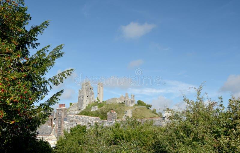 城堡corfe多西特 库存图片