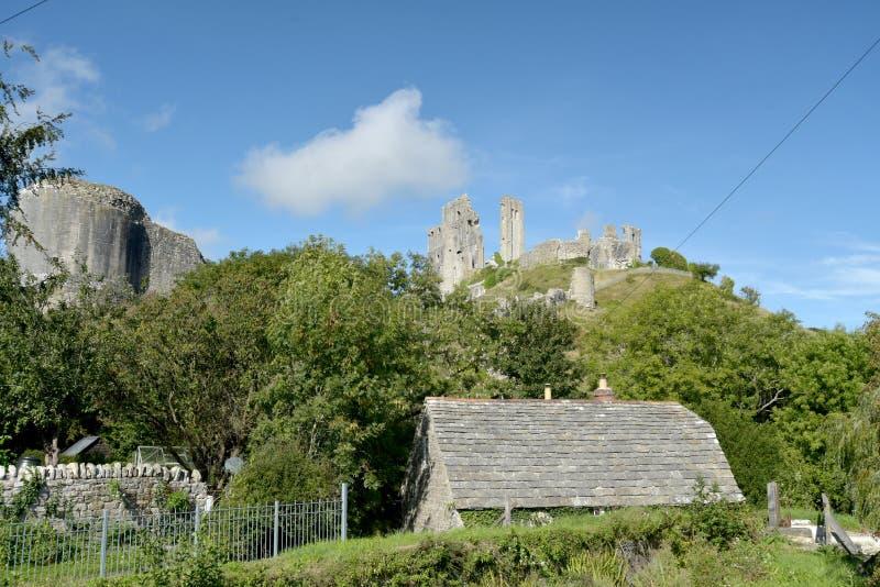 城堡corfe多西特 库存照片