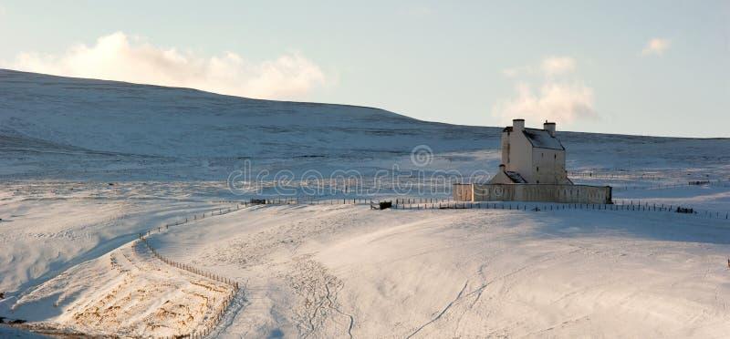 城堡corgarff冬天 库存图片