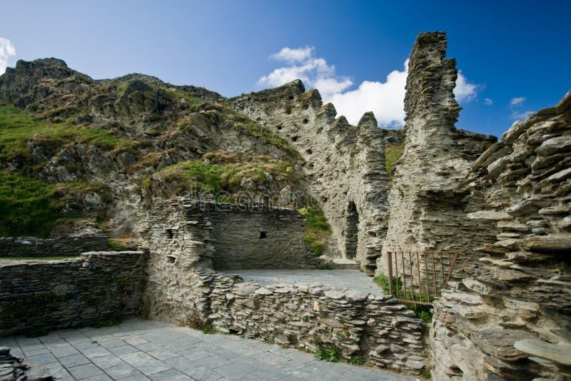 城堡cornwall tintagel 免版税库存照片