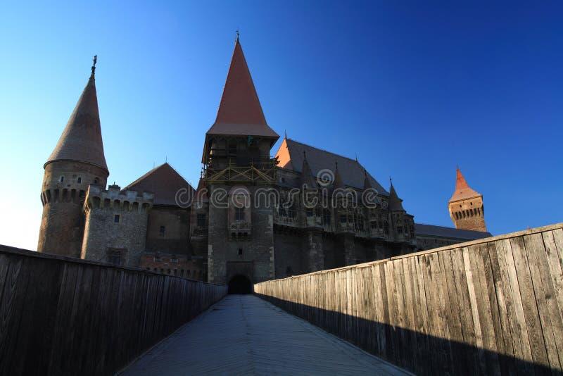 城堡corvinesti 免版税图库摄影