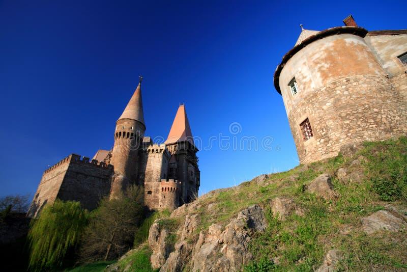 城堡corvinesti 免版税库存照片
