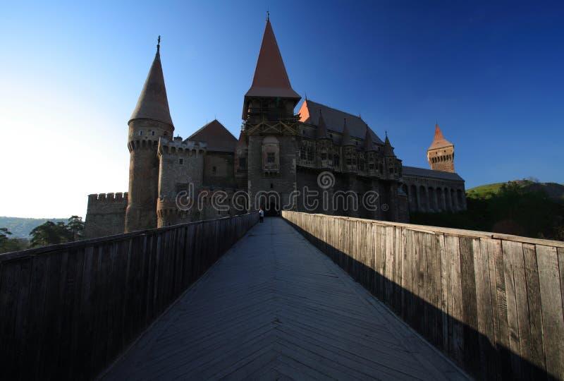 城堡corvinesti 库存照片