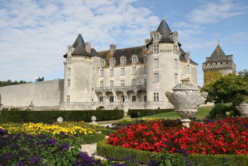 城堡courbon庭院拉洛希 免版税库存照片