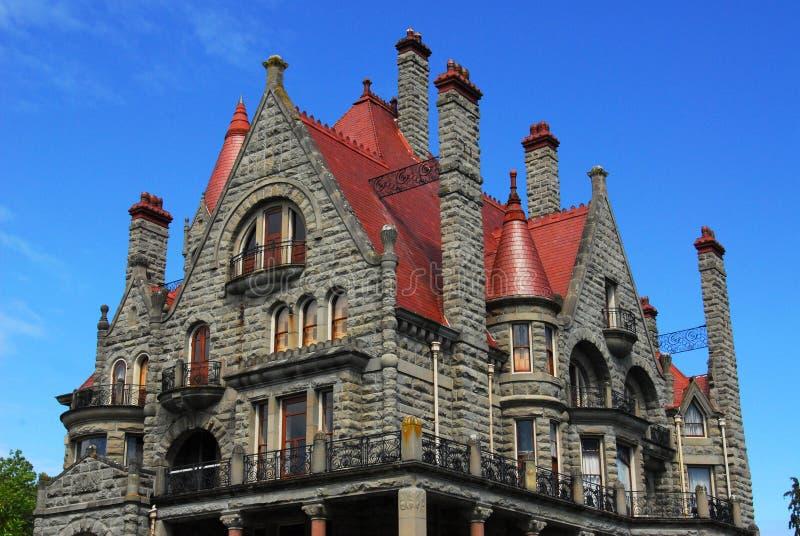 城堡craigdarroch 免版税库存图片