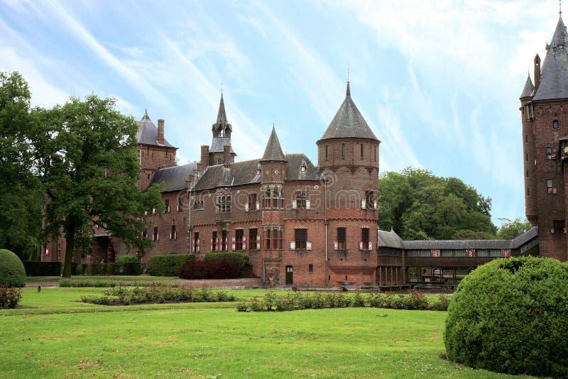 城堡de haar荷兰 库存照片